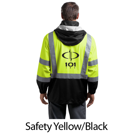 Cornerstone ANSI 107 Class 3 Safety Windbreaker - Screenprinted