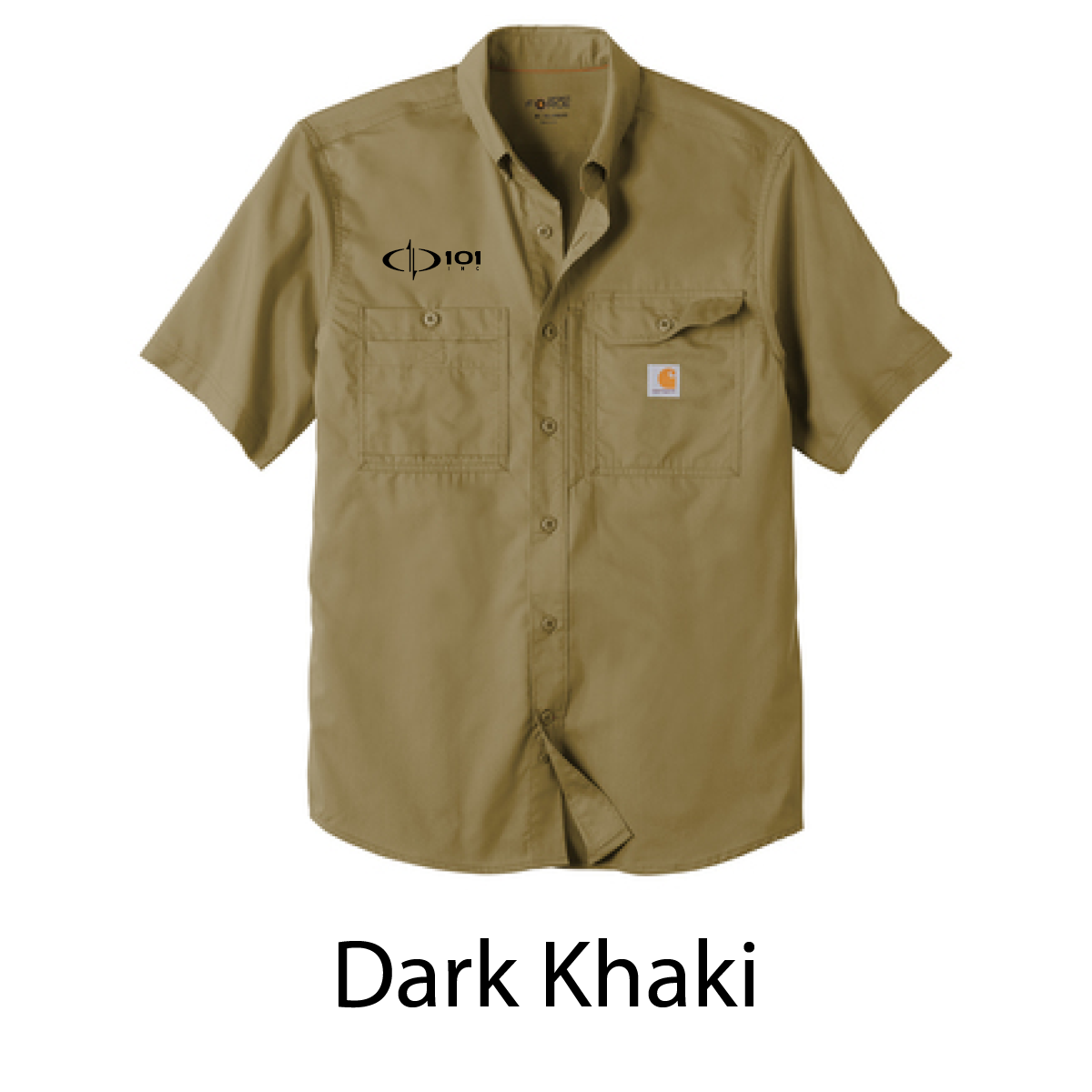 Carhartt Force ® Ridgefield Solid Short Sleeve Shirt - Embroidered