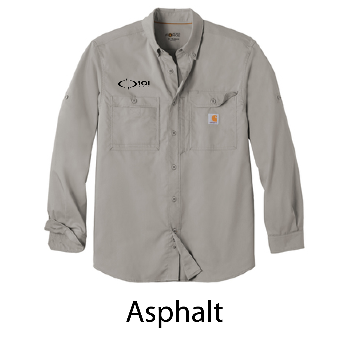 Carhartt Force ® Ridgefield Solid Long Sleeve Shirt - Embroidered