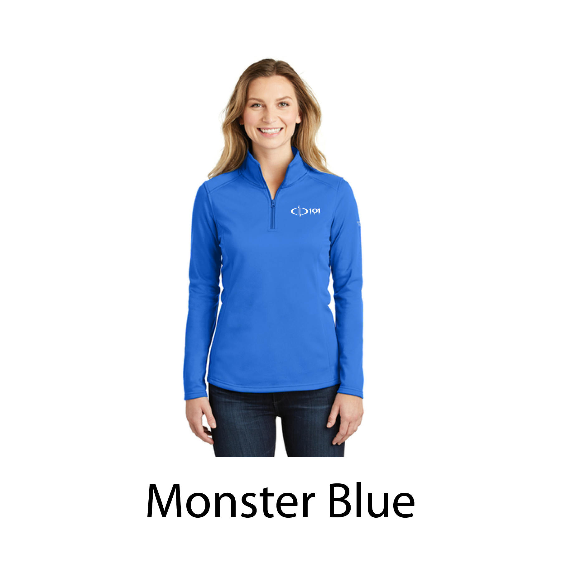 The North Face® Ladies Tech 1/4-Zip Fleece with embroidered logo