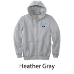 Carhartt ® Midweight Hooded Zip-Front Sweatshirt - Screenprinted