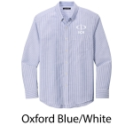 Port Authority® SuperPro™ Oxford Stripe Shirt - Embroidered